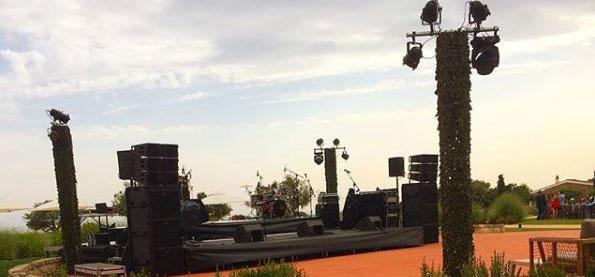Pista de Baile Boda en Menorca Sonido e iluminación Soundwave Menorca L´acoustics Torralbenc